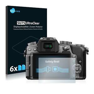 6x Displayschutzfolie für Panasonic Lumix DMC-G7 Klar Schutzfolie Displayfolie