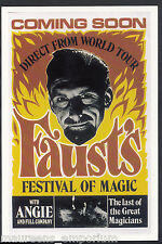 Advertising Postcard - Faust's Festival of Magic, Last of Great Magicians BH6204