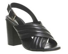 Peep Toes Office Block 100% Leather Upper Heels for Women