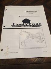 Land Pride Rear Blades Rbt5596 Rbt55108 Rbt55120 Operators Manual