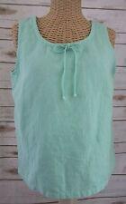 a9b2aaa63ba795 Hot Cotton Marc Ware Womens PS Linen Blend Mint Green Sleeveless Top Scoop  Neck
