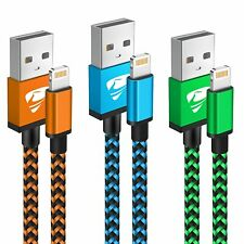 More details for iphone charger cable 2m 3pack iphone charging cable long iphone lightning cable