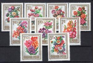 HUNGARY 1965 STAMP Sc. # 1669/77 FLOWERS MNH