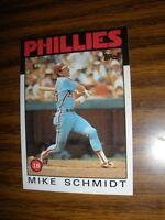 1986 Topps #200 Mike Schmidt Philadelphia Phillies NrMt