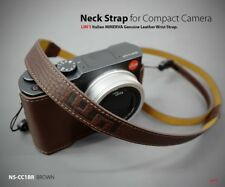 Lim's Genuine Leather Camera Neck Shoulder Strap for Leica SONY Fujifilm Brown