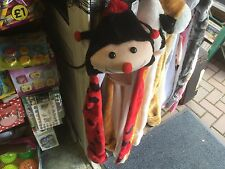 CHILDRENS KIDS FAUX FUR ANIMAL LADYBIRD HAT WITH GLOVES ATTACHED NEW TAGS