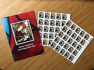 Royal Mail Christmas Postage Stamps 2020 With Employee Card