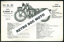 ORIGINAL Prospectus M.S. 31 - 350 cm3 Catalogue Brochure Moto DRESCH MS 30 - DFR