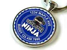Undercover Ninja sneaky Custom color options funny cute Id pet dog cat tag