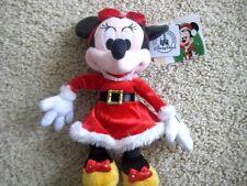 "NWT Disney Parks Exclusive ~ Santa Minnie Mouse Plush 9"" New"