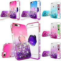 For iPod Touch 5th & 6th Gen Hybrid Luxury Liquid Glitter Bling Phone Case Cover