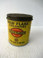 Vintage Gold Flake Cigarettes Honey Dew Bristol London Advertising Tin Box Ad*F2