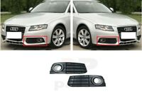 FOR AUDI A4 B8 08-11 NEW BUMPER LOWER GRILLE FOG LIGHT TRIM CHROME PAIR SET L&R