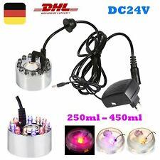 12 LED Nebler Ultraschall Luftbefeuchter Zerstäuber für Zimmerbrunnen+EU Adapter