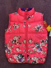 Nwt Girls Soft And Puffy Pink Really Cute Flowered Vest Size 12