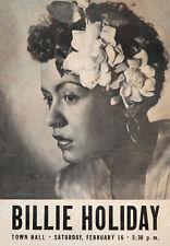 BILLIE HOLIDAY - New York City 1949 Music Concert Poster Art