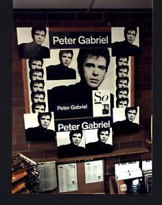 VINTAGE PETER GABRIEL SO STORE DISPLAY PHOTO