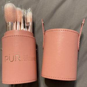 PÜR Complexion Authority~Signature Travel Essentials 12-piece Brush Set + Holder