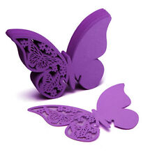 10 50 Butterfly Place Escort Wine Glass Cup Paper Card Wedding Decoration Diecut