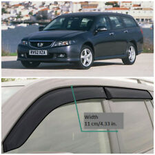 Wide Window Visors Side Guard Vent Deflectors For Honda Accord Wagon 2003-2007