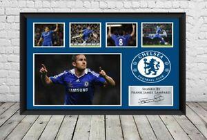 Frank Lampard Chelsea FC Signed Photo Poster Autographed Football Memorabilia