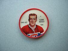 1961/62 SALADA FOODS / SHIRRIFF PLASTIC NHL HOCKEY COIN #105 CLAUDE PROVOST NICE