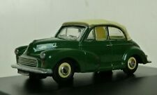 Oxford 76MMC003 Morris Minor Convertible closed roof Almond Green & white