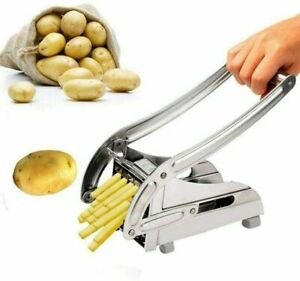 Potato Chipper French Fry Cutter with 2 Different Size Stainless Steel Blades