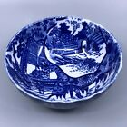 Vintage Blue and White Flow Blue Small Bowl Scalloped Edge 5 Inch