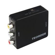 Teorder RCA Composite AV CVBS to HDMI Audio Video Mini Converter Adaptor Full HD