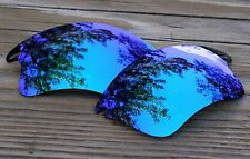 Polarized Sky Ice Blue Mirrored Sunglass Lenses for Oakley Fast Jacket Warm Tint