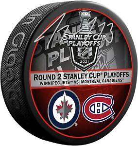 Tyler Toffoli Montreal Canadiens Signed Round 2 vs Winnipeg Match-Up Hockey Puck