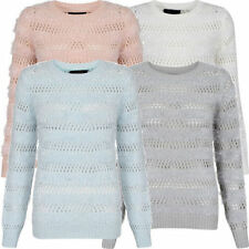 Women's Long Sleeve Striped Chunky, Cable Knit Knit Jumpers & Cardigans