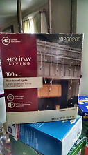 Holiday Living 300 CT Blue Icicle Lights Christmas Indoor/Outdoor # 0208280