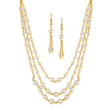 Spargz Traditional Party Pearl Multi-Strand Mala For Woman Necklace Set AINS 189
