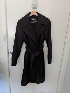 Forever New 8 Coat Wool Black Trenchcoat