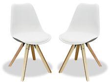 KMH® 2er Set Designstuhl Angie Esszimmerstuhl Schalenstuhl Stuhl Sessel weiss
