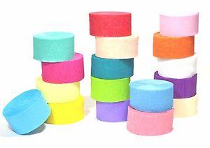 81ft Crepe Paper Streamer Roll Wedding Birthday Party Supplies Decorations
