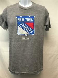 New-Minor-Flaw New York Rangers Youth Size L Large (14/16) Grey CCM Shirt