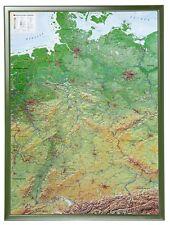 3D Relief Allemagne Avec Bois Cadre Portrait 57x77cm #100550R
