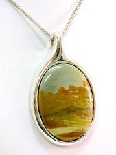 Christian Dior Anhänger Silber 925 Landschaftsachat Silver Pendant Grosse 1973
