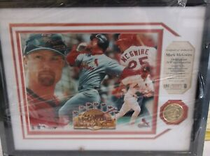 MARK McGWIRE PHOTO PLAQUE & 24K GOLD PLATED COIN