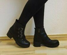 Damen -Stiefel, Stiefeletten, Boots, echtes Leder, EU 40, Schwarz, Neu/New