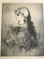 KAIKO MOTI, Listed Indian Artist  Original Signed Lithograph Rare PROOF! EA