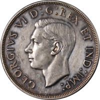 Canada Dollar 1947 Pointed 7 KM #37 XF - Cleaned D.H.P