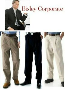 BISLEY MENS CHINO PANTS  - Navy or Sand or Taupe