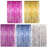Foil Fringe Curtains Photo Booth Tinsel Door Backdrop Party Decoration&