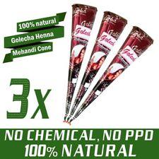 3x Golecha Henna Paste Cones Kegel, 100% natürlich, No Mix, No P.P.D | 75g