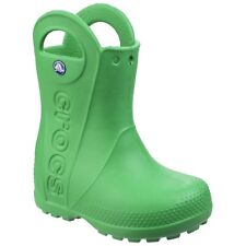 Kids's Crocs Handle It Rain Boot Kids Wellies BOOTS in Green UK 1 / EU 32 - 33