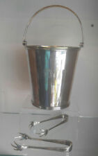 QUALITY KYOTO HOTEL ICE BUCKET ICE & TONGS SILVERPLATED LOS ANGELES JAPAN 1930s